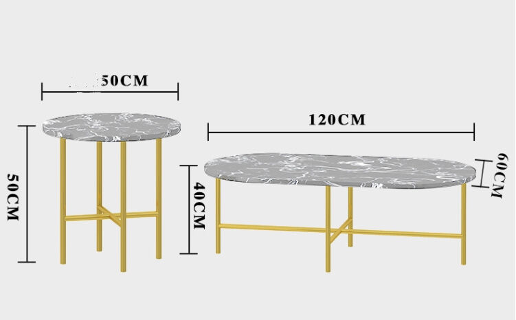 طقم طاولتين وايت ماربل سيت TOR-0046 اثاث 2699.000000