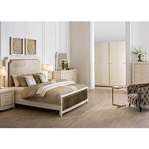 طقم غرفة نوم دوبليكيتى سرير ملكي (حجم 180*200 سم)