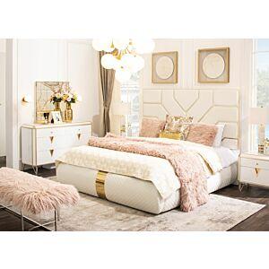 طقم غرفة نوم كولزيان سرير ملكي (حجم 180*200 سم)