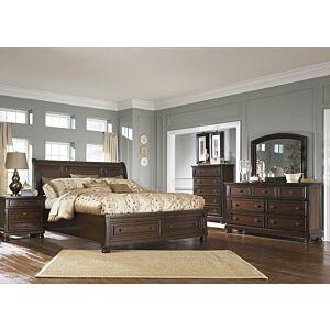 بورتر طقم غرفة نوم سرير ملكي