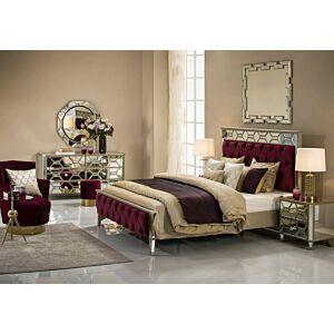 طقم غرفة نوم سرير ملكي -180*200 سم- مونتيكور