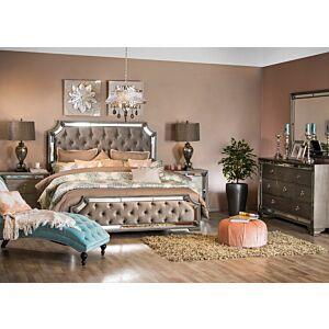 طقم غرفة نوم سرير كوين اورورا (150*200 سم)