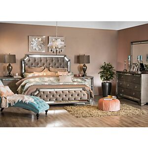 طقم غرفة نوم سرير ملكي (180*200 سم) اورورا