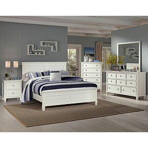 طقم غرفة نوم سرير كوين أبيض تامارك (150*200)
