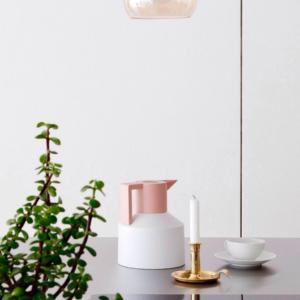 ترمس القهوة والشاي من Normann Copenhagen-لون رمادي و روزغولد