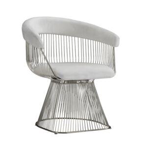 كرسي STRAND CHAIR, WHITE/SILVER
