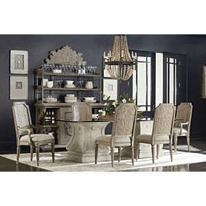 كراسي طاولة طعام Arch Salvage - Mills Side Chair - Cirrus