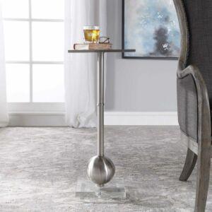 LATON ACCENT TABLE, SILVER طاولة