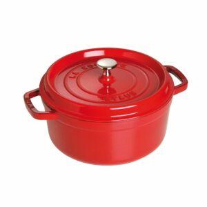 كسرولة مستديرة، لون أحمر، حجم 24 سنتم، ستوب-Staub