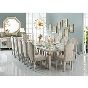 طقم طاولة طعام 12 كرسى اكريسي
