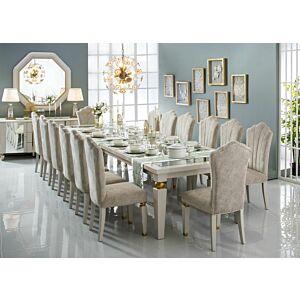 طقم طاولة طعام 14 كرسى اكريسي