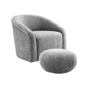 كرسي Boboli Forest Velvet Chair + Ottoman Set