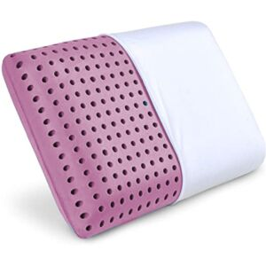 وسادة استرخاء من الفوم للراحة مع تقنية AirCell - بنفسجي وأبيض