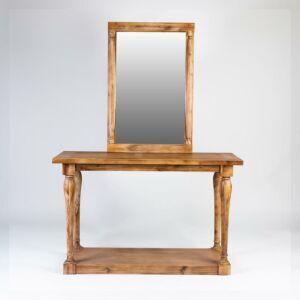 طاولة مدخل مع مرايا Classic- لون خشبي