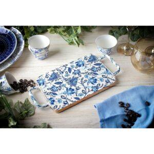 صينية تقديم Blue Spring- مستطيلة