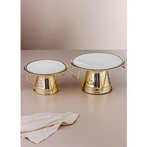 طقم صحون تقديم فونيس - ذهبي وابيض