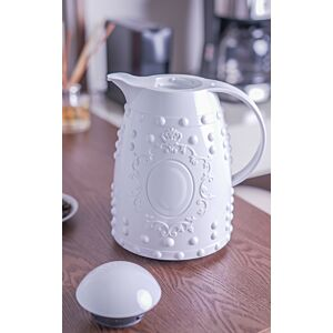 ترمس قهوة أوشاي ريماركبل بلاستيك- لون أبيض و ذهبي
