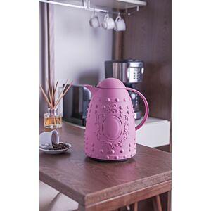 ترمس القهوة و الشاي جينيك لون وردي
