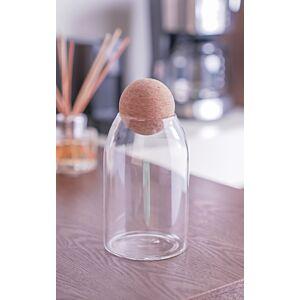 حافظة مشروبات إيليغانس- زجاج شفاف