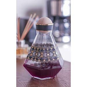 حافظة مشروبات إيليغانس- زجاج شفاف مزخرف