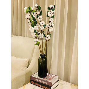مزهرية القطن - أسود