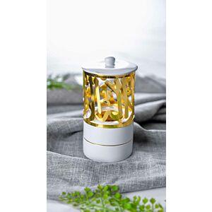 مبخرة ماجستيك - لون أبيض وذهبي