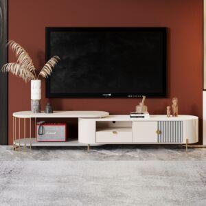 طاولة تلفزيون لوريتا - كريمي
