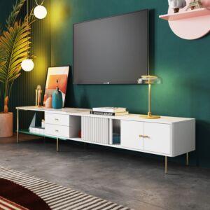 طاولة تلفزيون - ابيض
