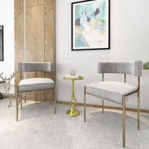 طاولة جانبية ستيل رويال بقائمة ذات حلقة - لون ذهبي