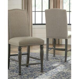 كرسي Audberry Upholstered Barstool (2/CN)
