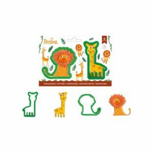 مجموعة قطاعات البسكويت وايلد أنيمال من ديكورا, 2 قطعة