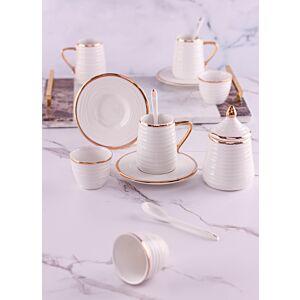 طقم تقديم شاي وقهوة ليفارو - أبيض