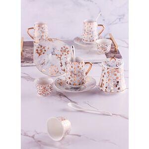 طقم تقديم شاي وقهوة سيلينا - أبيض