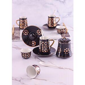 طقم تقديم شاي وقهوة سيلينا - أسود