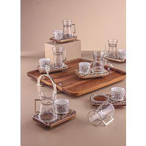 طقم تقديم شاي وقهوة بليسيما - فضي