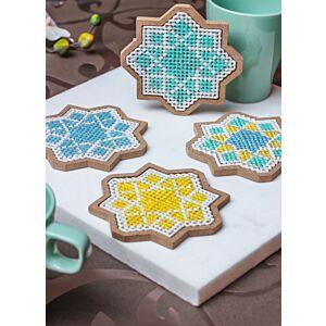 طقم لبادات كوب الفن الإسلامي الثماني