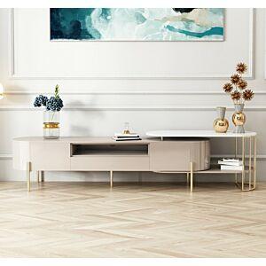 طاولة تلفزيون فونت- لون بيج