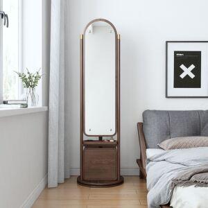 وحدة أدراج ومرآة تزيين ليزلي- لون خشبي المميزة