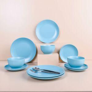 طقم عشاء امانثا - ازرق - ل 4 أشخاص