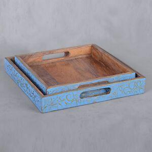 طقم صواني تقديم أسيونا - أزرق