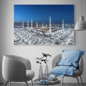 لوحة حصرية لصورة المسجد النبوي الشريف