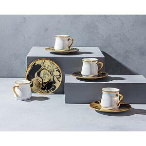 طقم فناجين قهوة ماربيلا-ذهبي