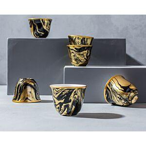 طقم فناجين قهوة عربية ماربيلا -ذهبي
