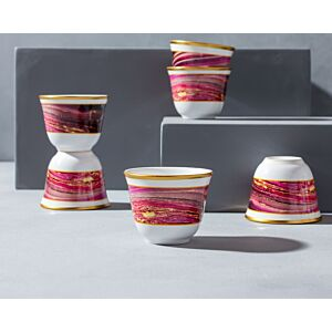 طقم فناجين قهوة عربية ماربيلا -وردي متدرج