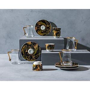 طقم شاي وقهوة Golden Wave