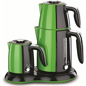 جهاز تحضير شاي وقهوة Korkmaz Cay & kahve-لون اخضر