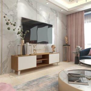 طاولة تلفزيون أفنيو- أبيض