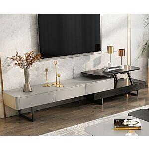 طاولة تلفاز ديستينا - أسود وفضي