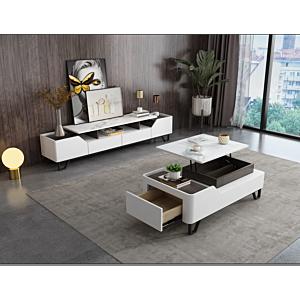 طاولة تلفزيون كاستولين- لون أبيض