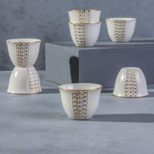 فناجين قهوة عربية باليرمو- لون أبيض